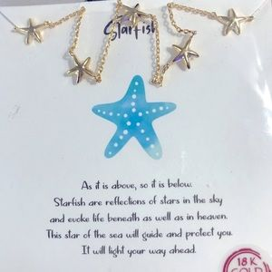 """Starfish Necklace - """"It will light your way ahead"""""""